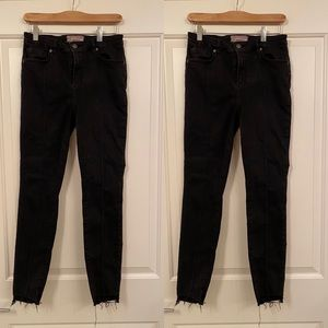 Free People High Waisted Black Crop Jeans